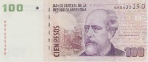 General Julio Argentino Roca auf 100 argentinische Peso. Dies zeigt nochmals die Wichtigkeit dieser Person auf.