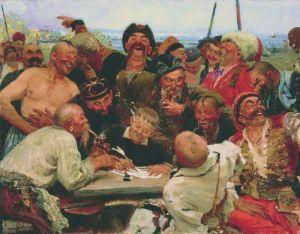 Die Saporoger Kosaken schreiben dem türkischen Sultan einen Brief